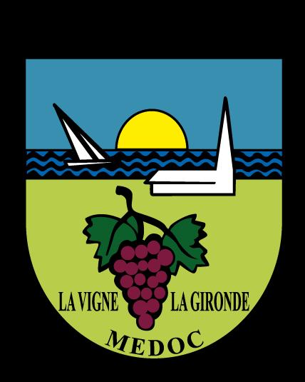 logo commune valeyrac 33340 mairie gironde vignes raisins église estuaire port de goulée bateau