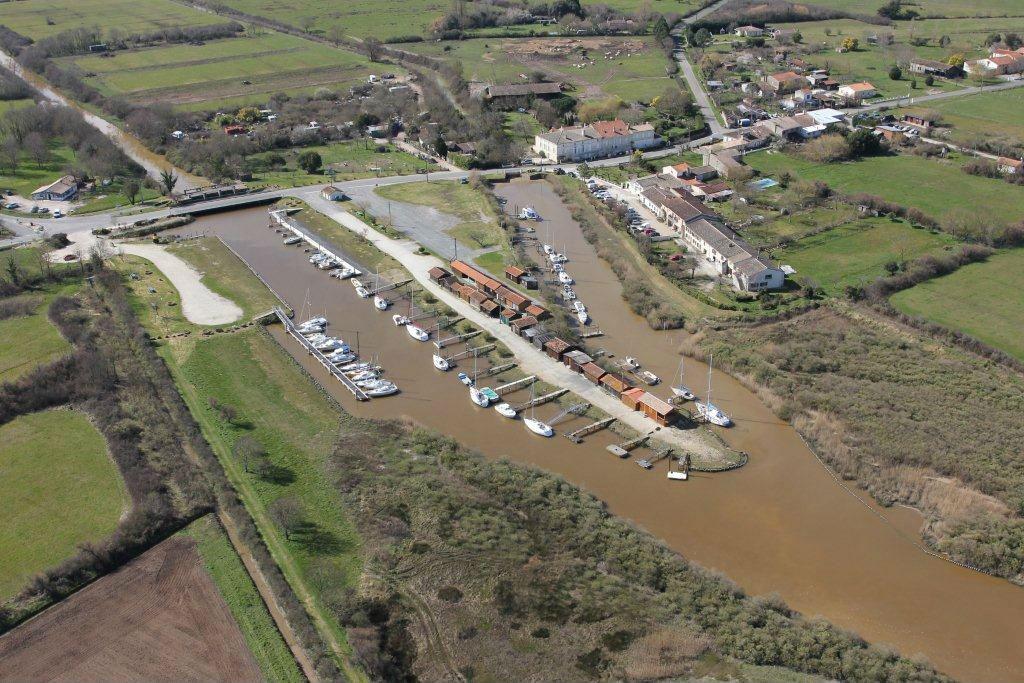 Port de goulée photo vue aérienne